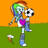 Rainbow Dash Equestria Girls Coloring