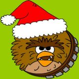 Angry Birds Chewbacca Christmas Coloring